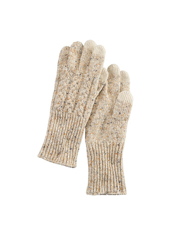 Cable Gloves - Tan