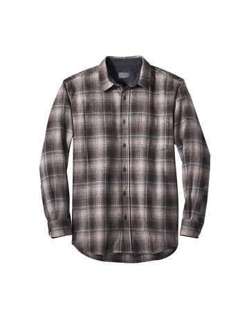 Lodge Fitted Shirt - Tan, Black, & Grey Ombre