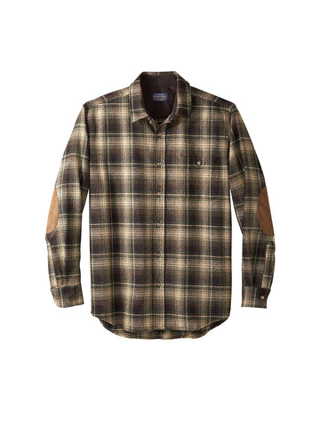 Trail Shirt - Tan, Black, & Green Ombre