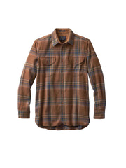 Buckley Fitted Shirt - Rust Twill Plaid
