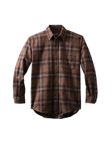 Lodge Fitted Shirt - Brown Plaid