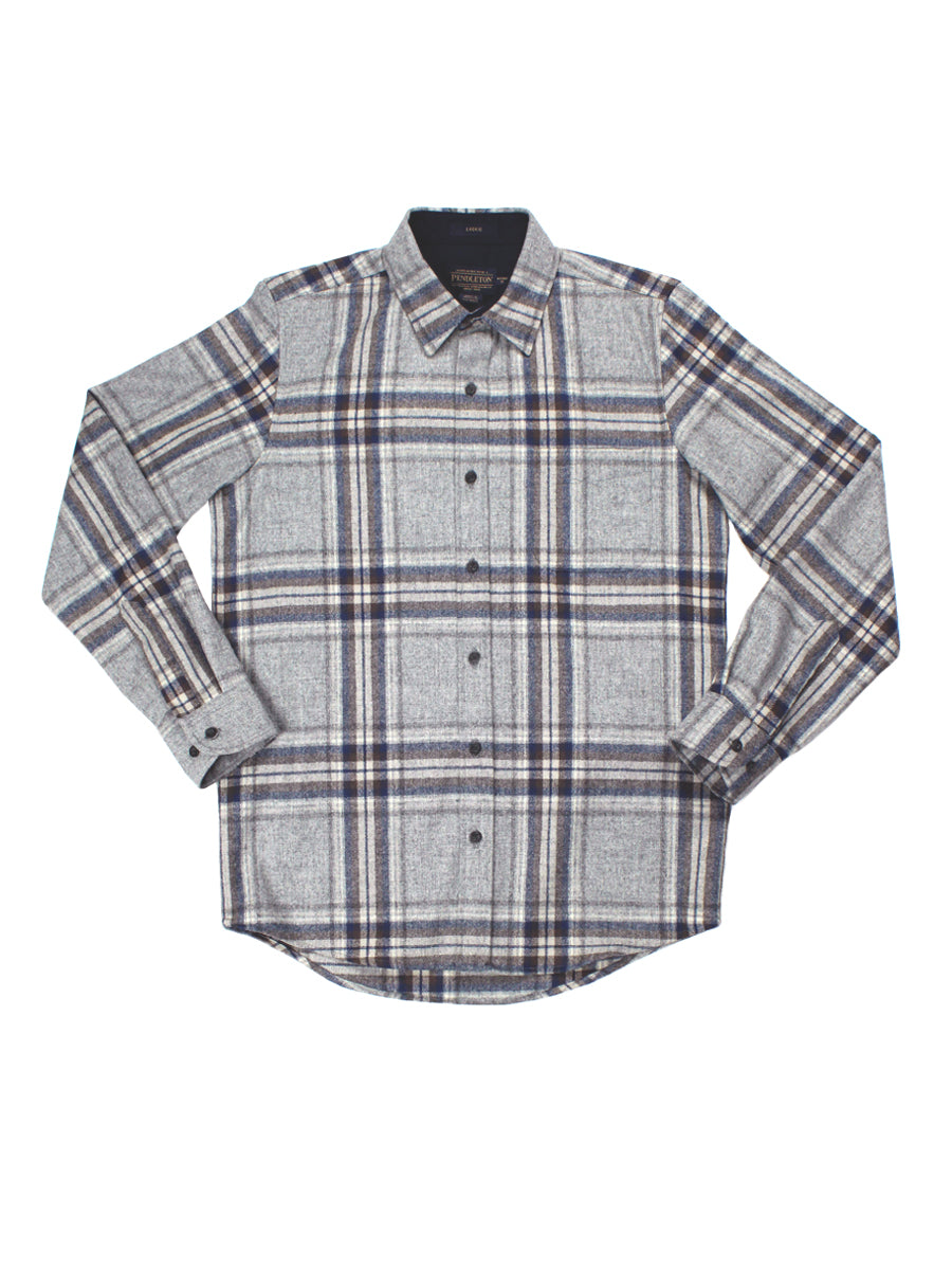Lodge Fitted Shirt - Grey & Blue