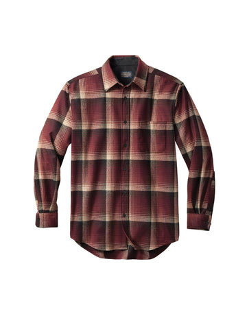 Lodge Fitted Shirt - Maroon Ombre