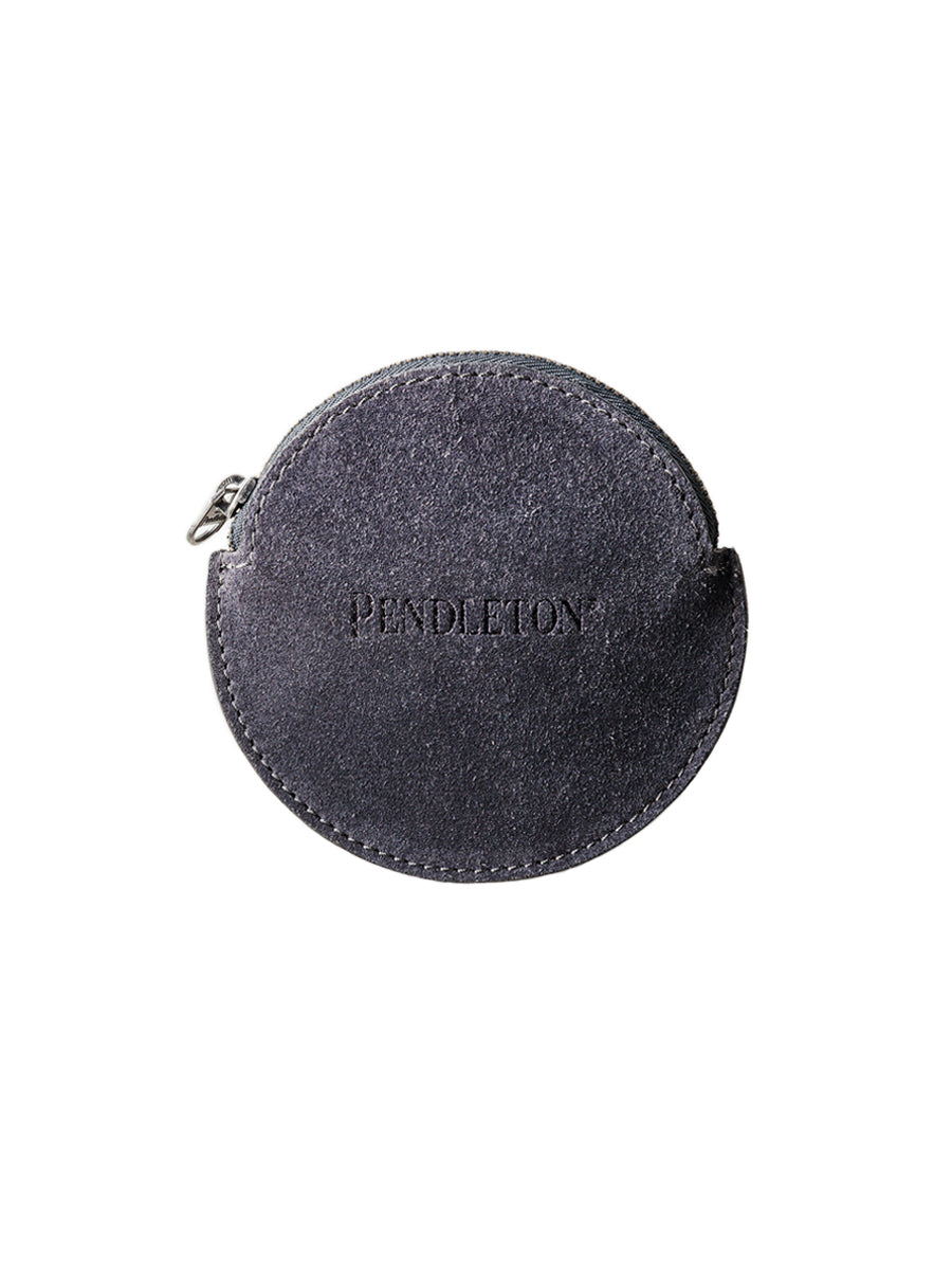 Suede Coin Purse - Grey & Black