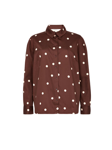 Edie Polka Dot Shirt - Brown