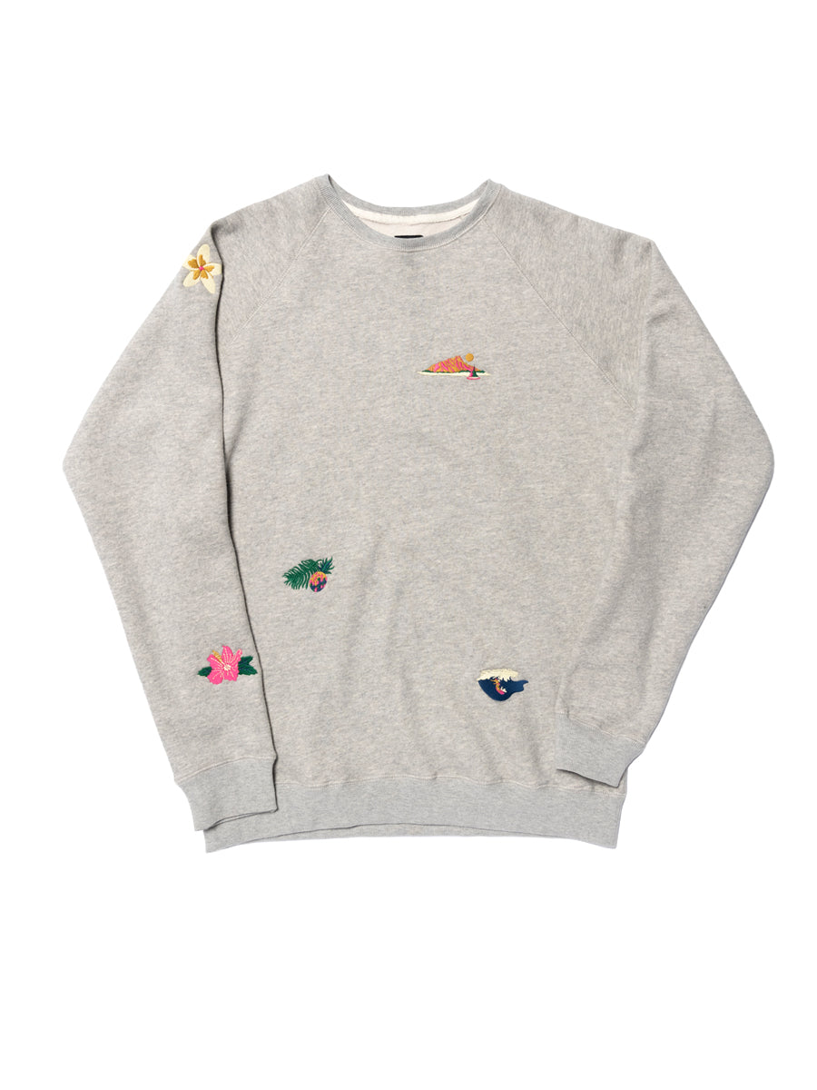 Pacific Embroidery Sweatshirt - Grey