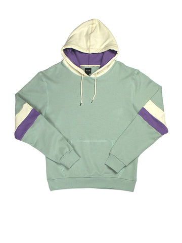 Panel Hoodie - Green & Purple