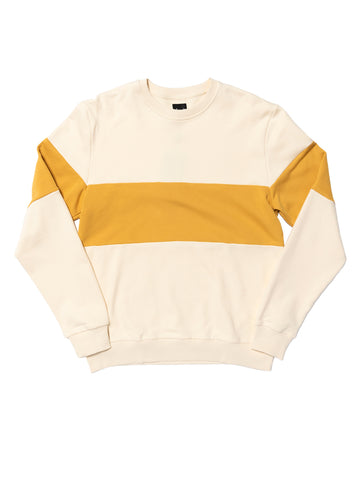Panel Sweatshirt - Yellow