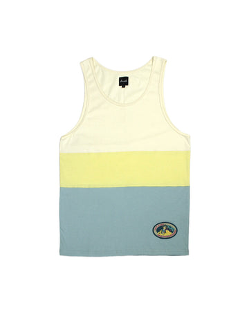 Panel Tank Top - Cream & Blue