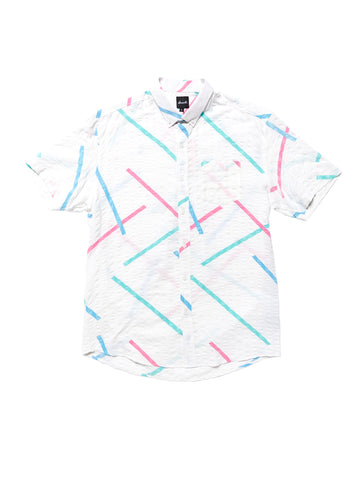 Upcycled Short Sleeve Shirt - White Multi