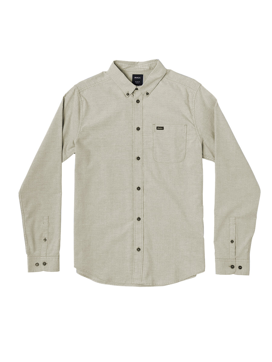 That'll Do Stretch Long Sleeve Shirt - Olive