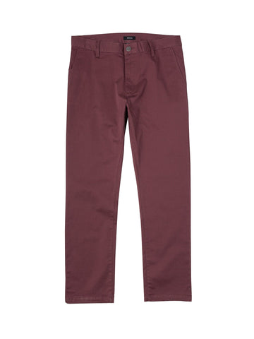 Weekend Stretch Pant - Oxblood Red