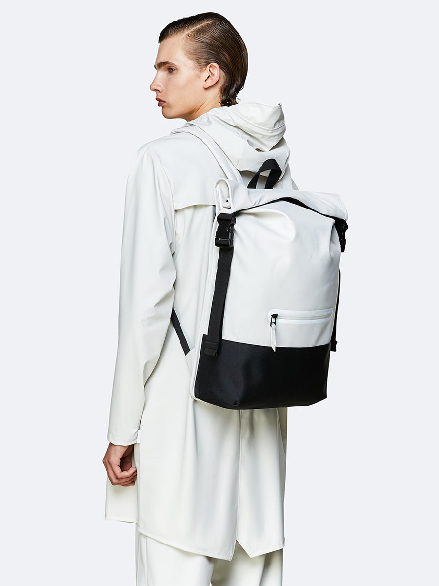 Buckle Rolltop Rucksack - Off White