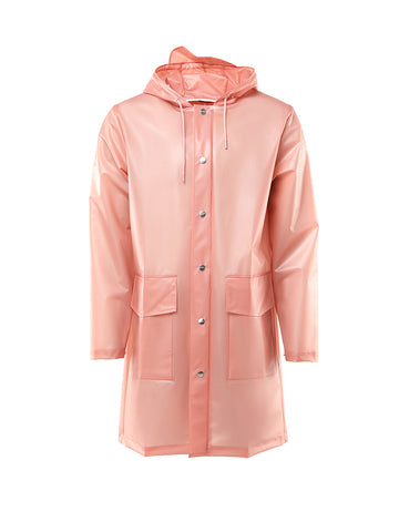 Unisex Hooded Coat - Foggy Coral