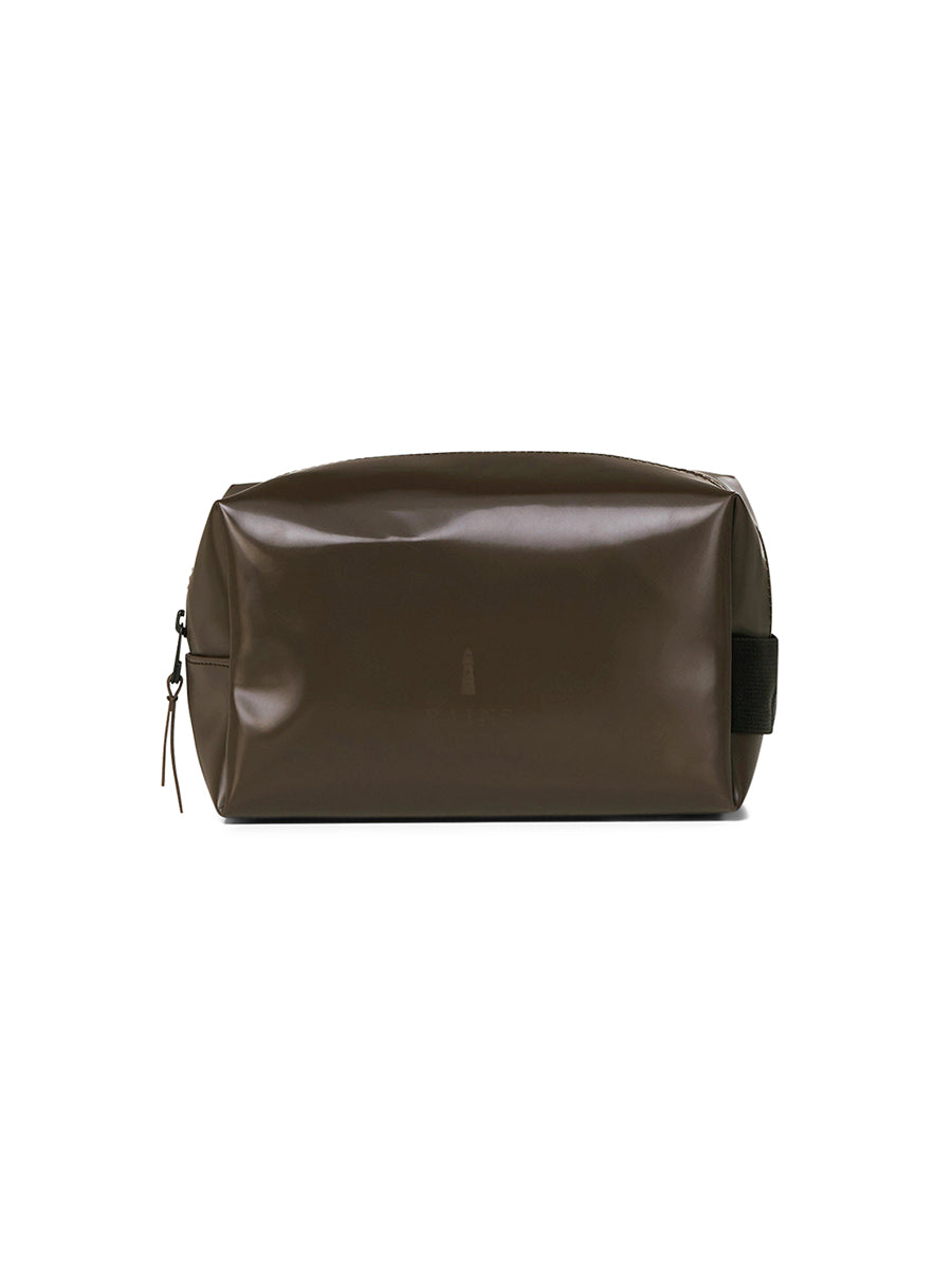 Wash Bag Small - Shiny Brown