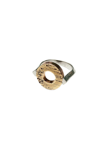 Sculpture Circle Ring - Bronze