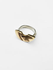 Sculpture Arc Ring - Bronze