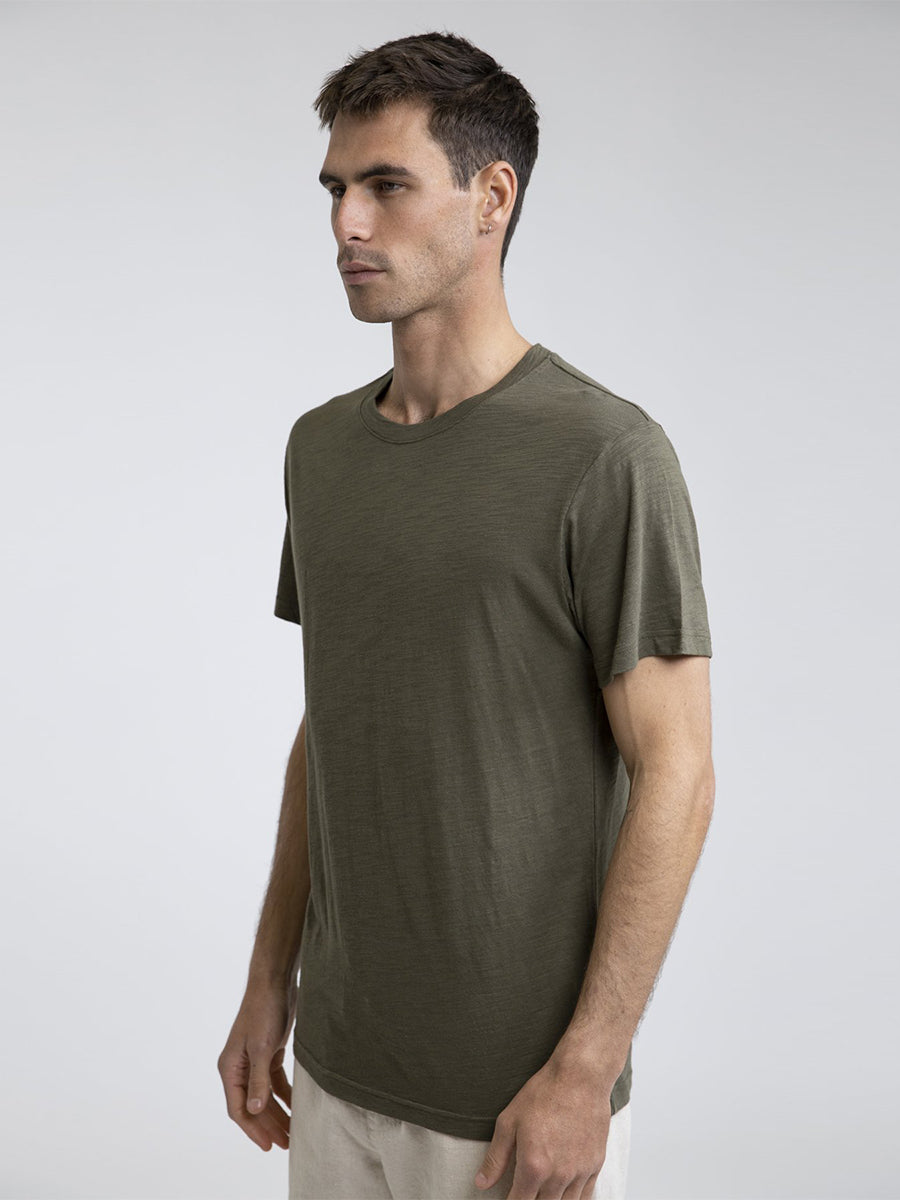 Basic Slub T-Shirt - Olive