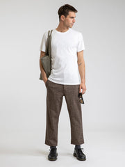 Essential Trouser Pant - Heathered Chocolate