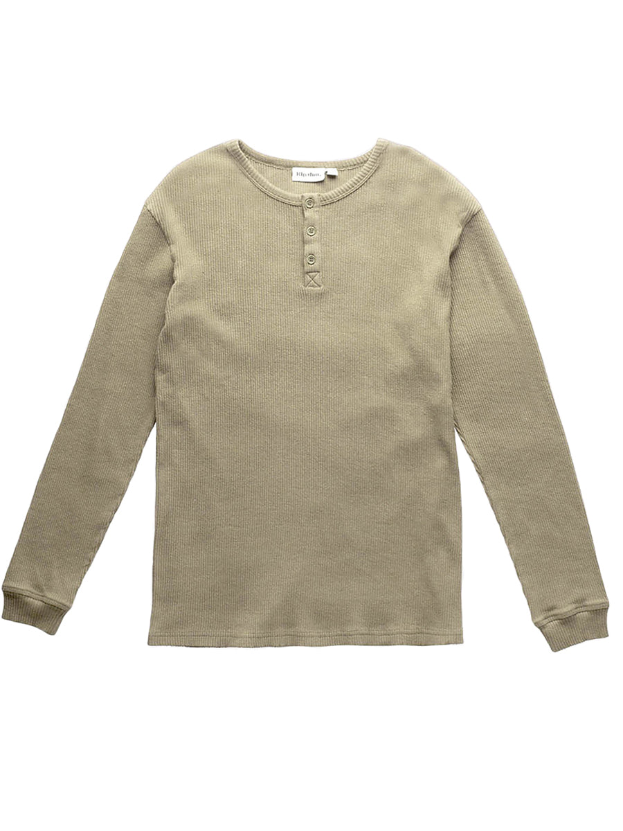 Henley Long Sleeve Shirt - Sage