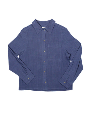 Linen Work Shirt - Midnight