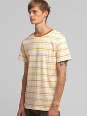 Jacquard Stripe T-Shirt - Vintage Yellow