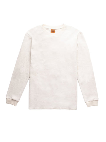 Terrycloth Vintage Long Sleeve T-Shirt - Vintage White