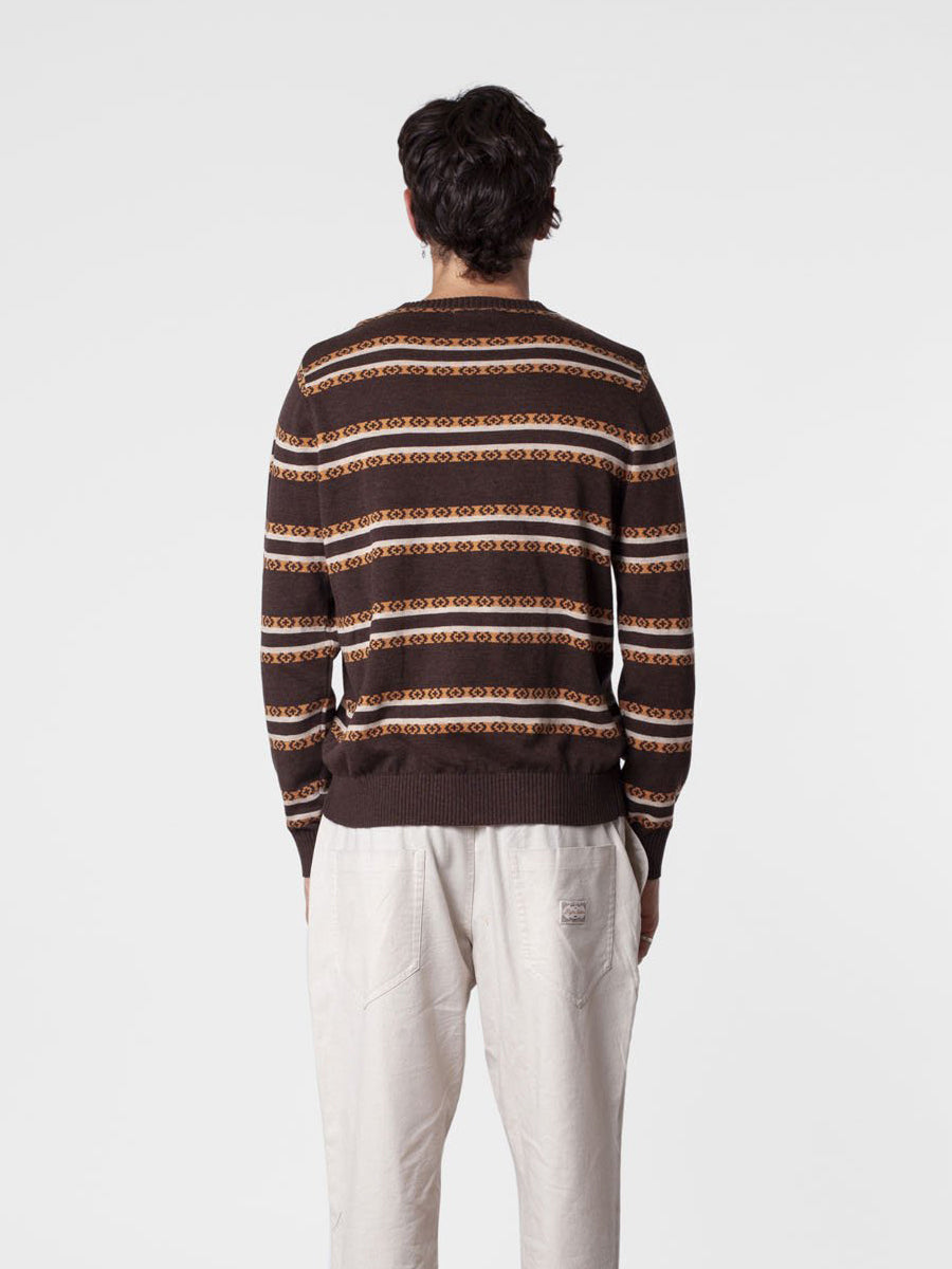 The Buzz Stripe Knit - Espresso