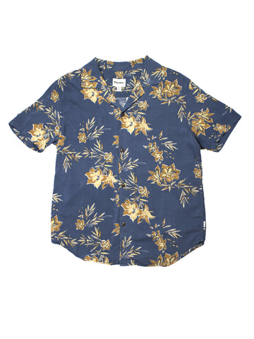 Vintage Aloha Shirt - Pacific Blue