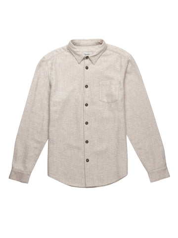 Wool Long Sleeve Shirt - Ivory