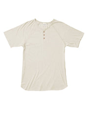 Men's Short Sleeve Baseball Henley - White Sage