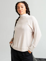 Cozy Knit Long Sleeve Sweater - Bone