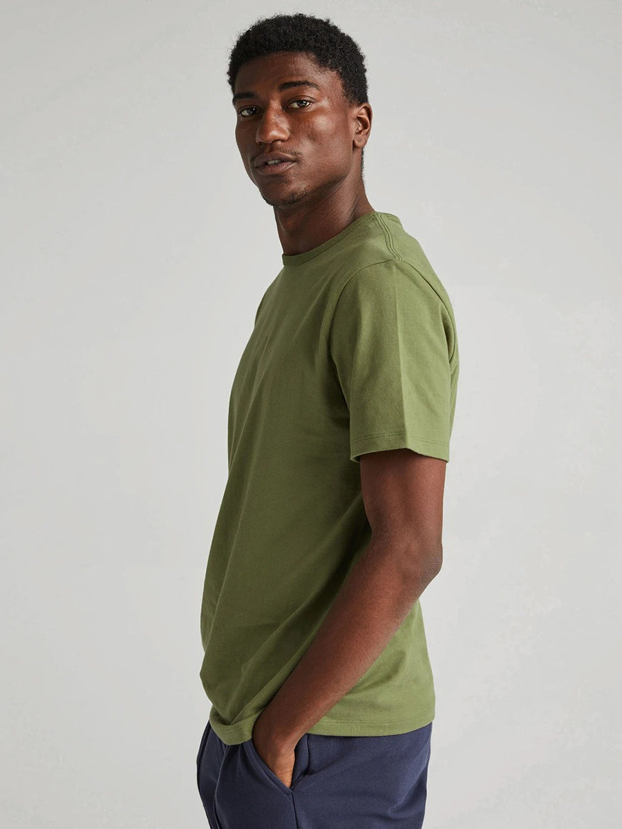 Weighted Cotton Tee - Olive Army
