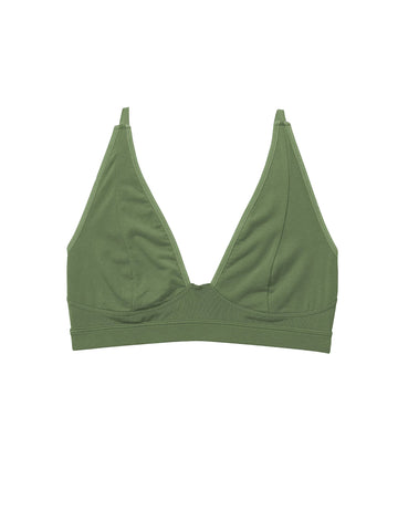 High Cut Bralette - Olive Army