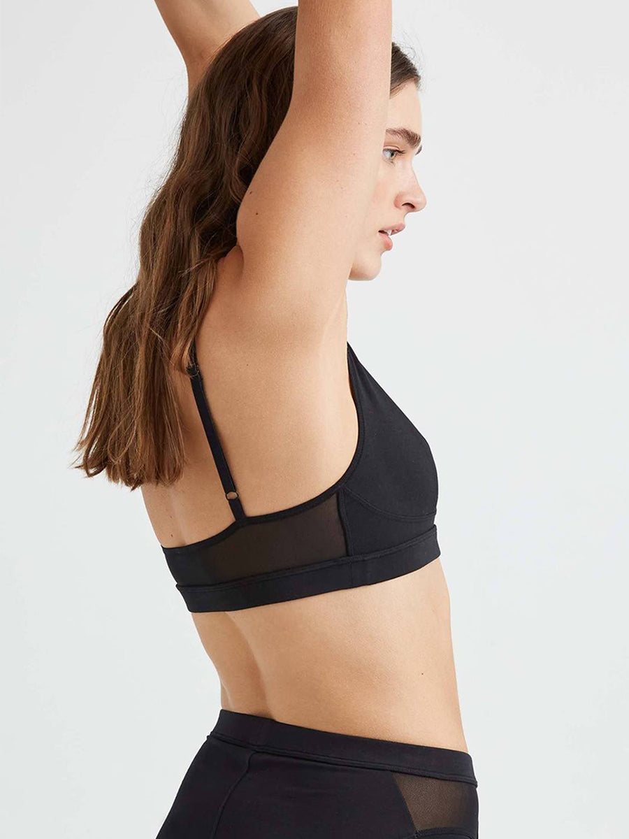 High Cut Bralette - Black