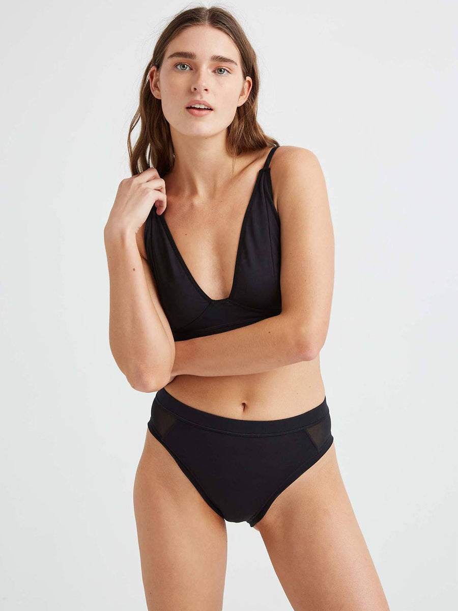 High Cut Brief - Black