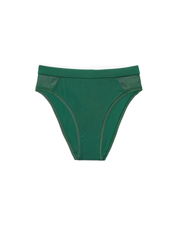 High Cut Brief - Evergreen