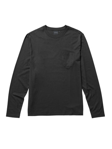 Long Sleeve Crew Pocket Tee - Stretch Limo