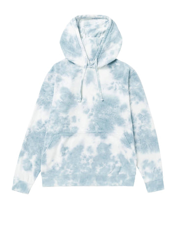 Men's Recycled Pullover Hoodie - Blue Mirage Tie-Dye