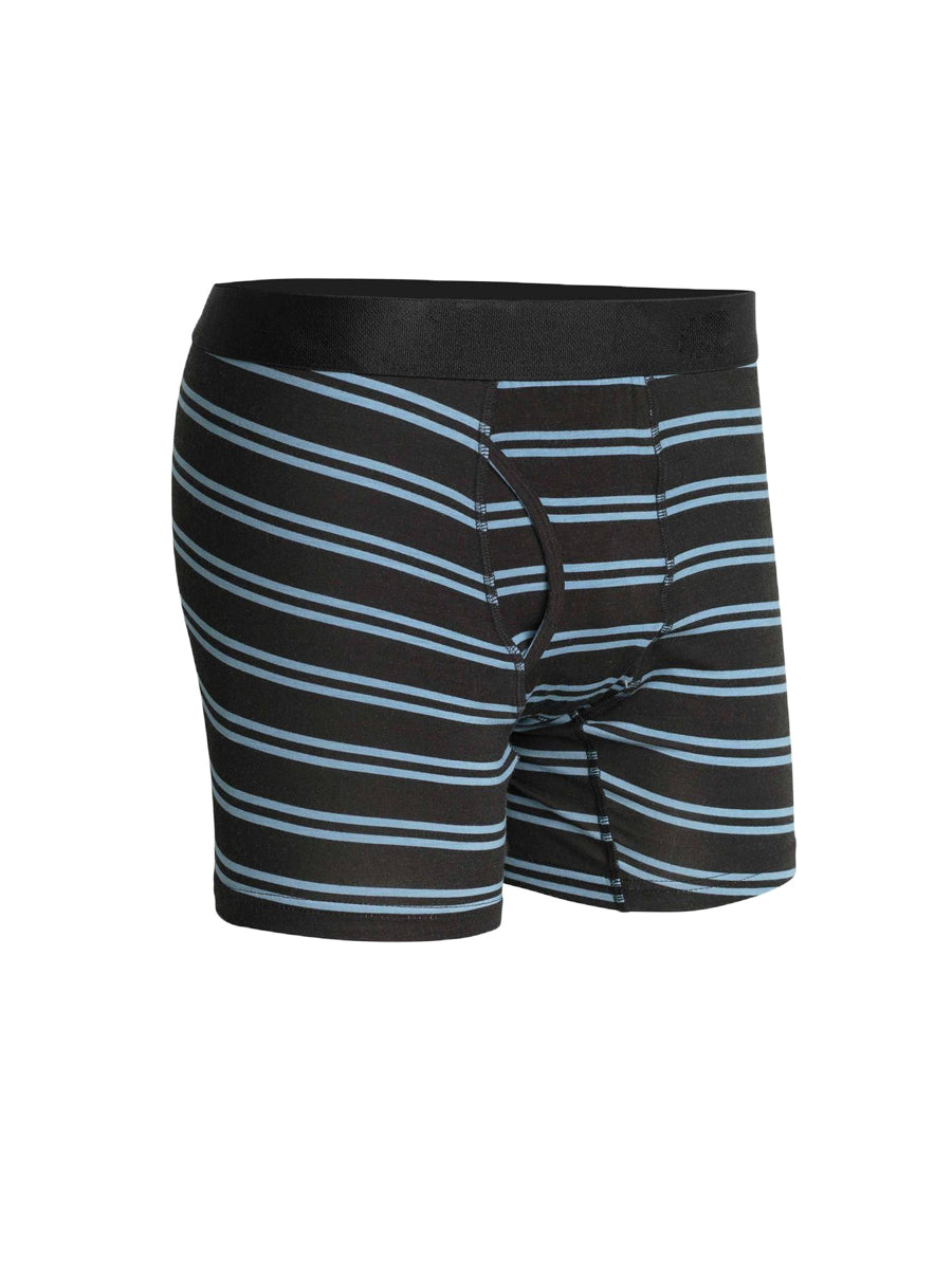Clark Boxer Briefs - Black & Blue