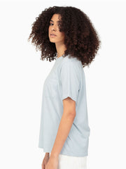 Women's Pocket Crew Tee - Blue Grey