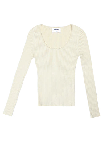 Classic Rib Sweater - Natural