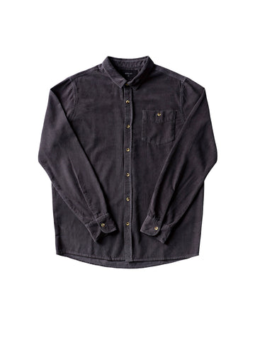 Men At Work Cord Shirt - Faded Black