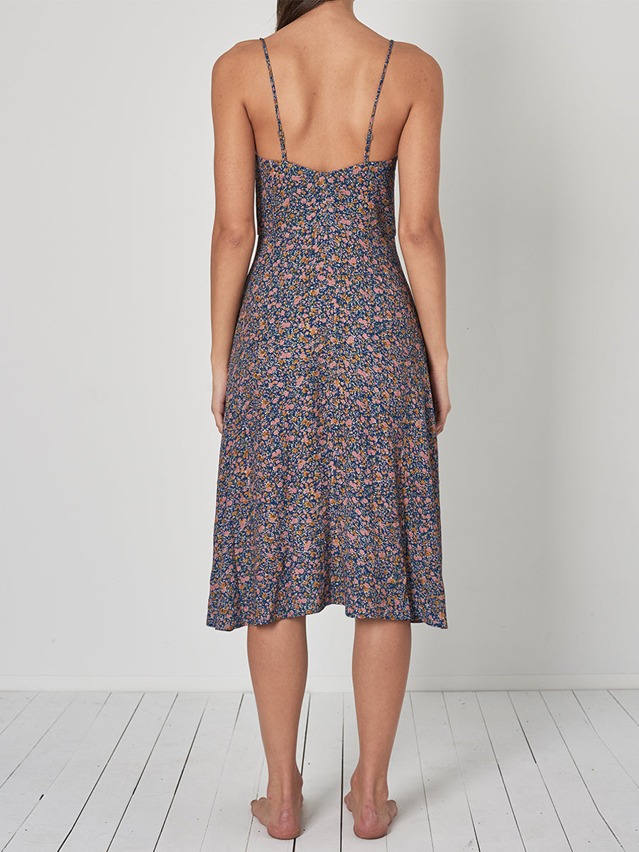 Midsummer Coast Floral Dress - Blue
