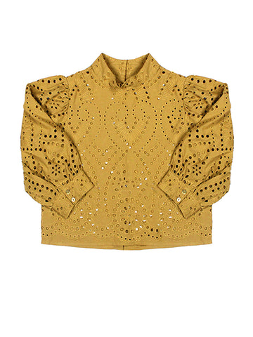 Stephanie Lace Blouse - Harvest