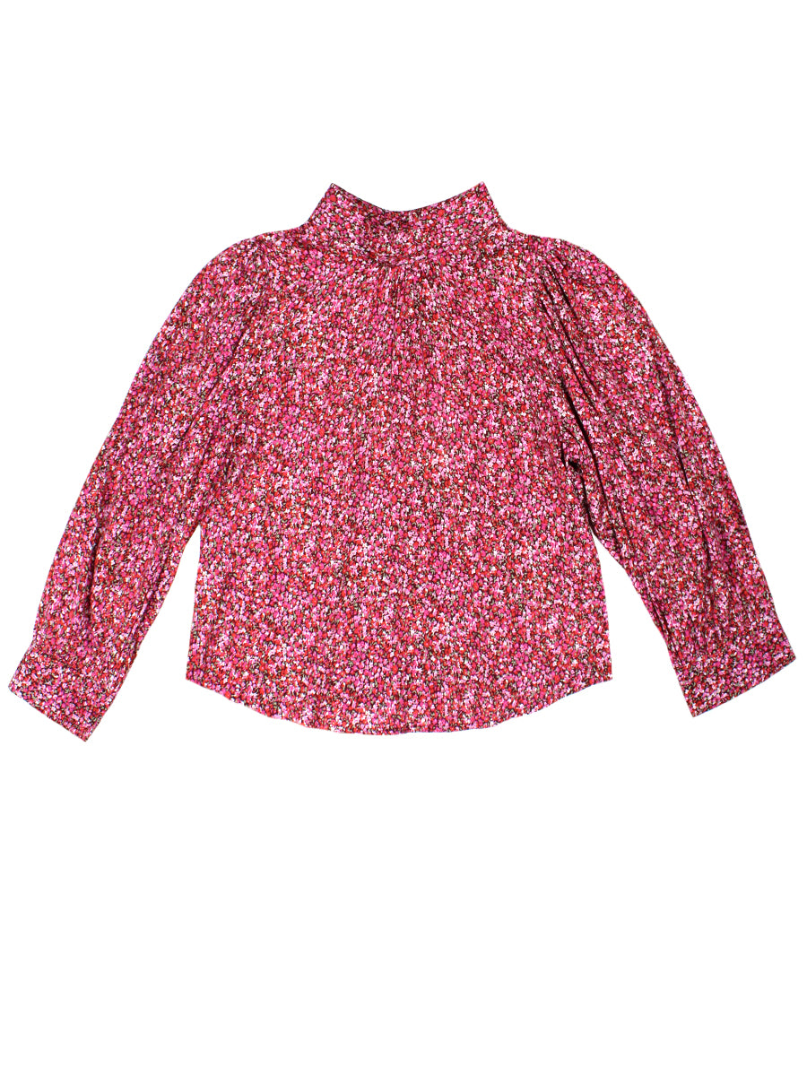 Stephanie Paris Floral Blouse - Red