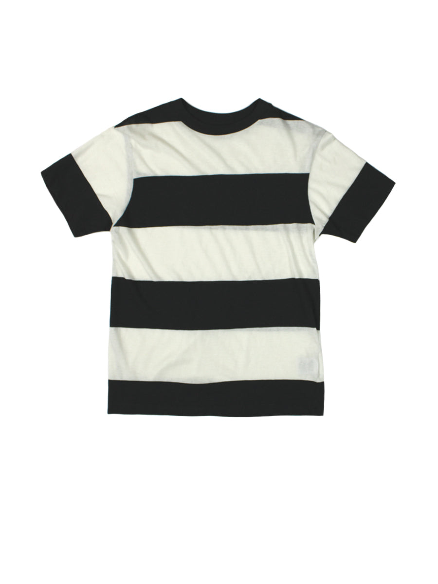 Tomboy Big Stripe Tee - Faded Black
