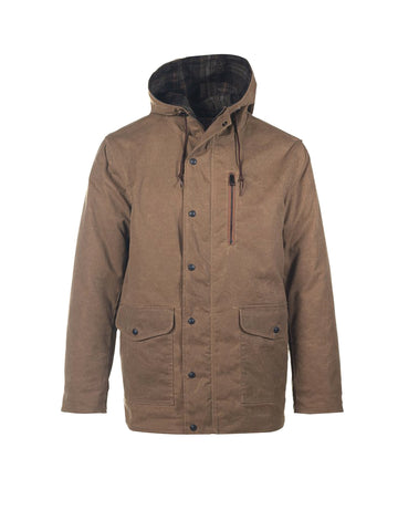8045 Waxed Hooded Parka - Khaki