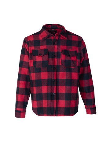 7910P Plaid CPO Shirt - Red