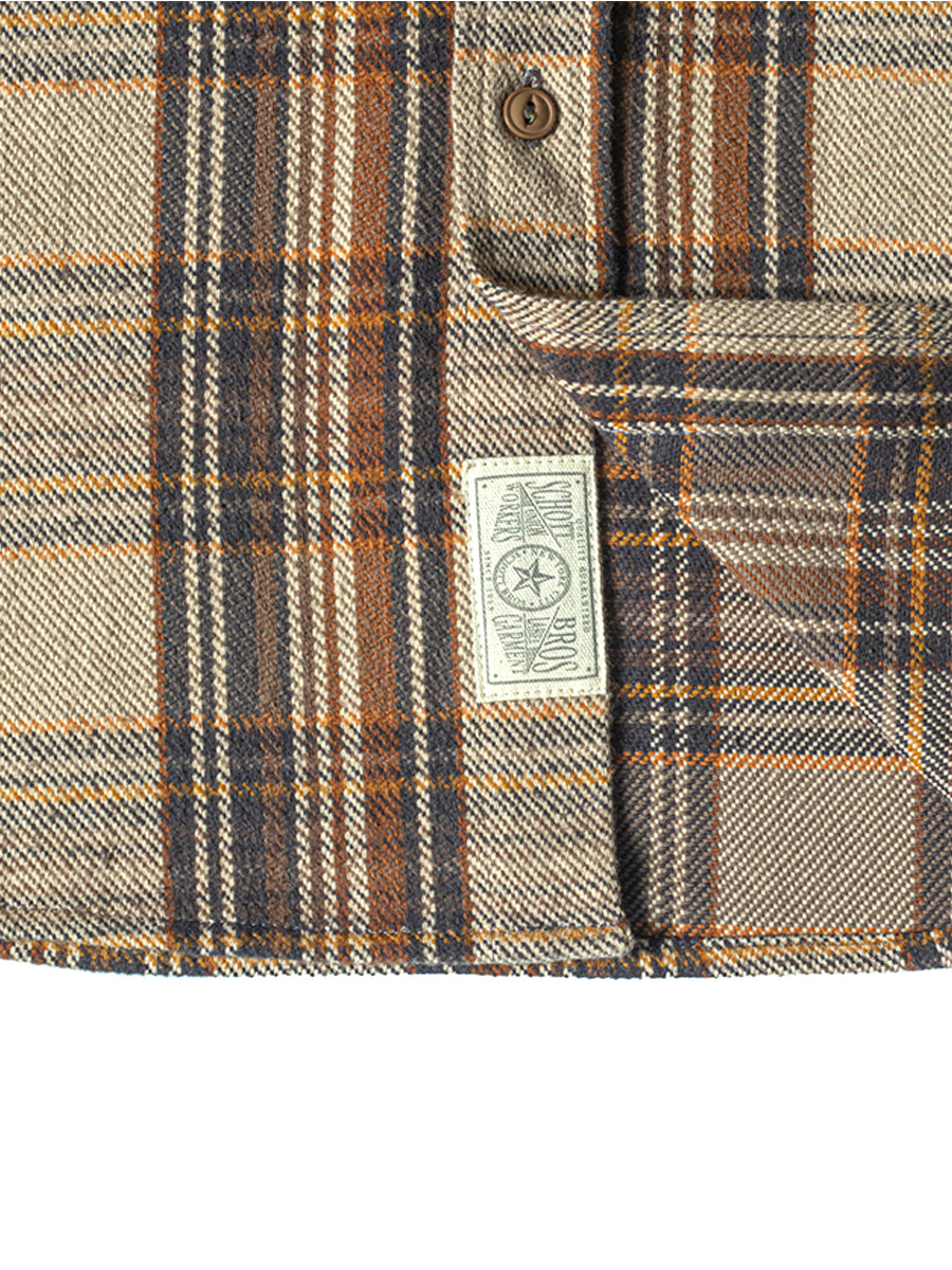 SH2035 Cotton Plaid Shirt - Tan